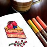 ilustracja ciasto