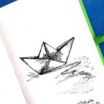 ilustracja łódka zpapieru